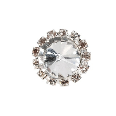 BR knotspiraal Crystal 2cm