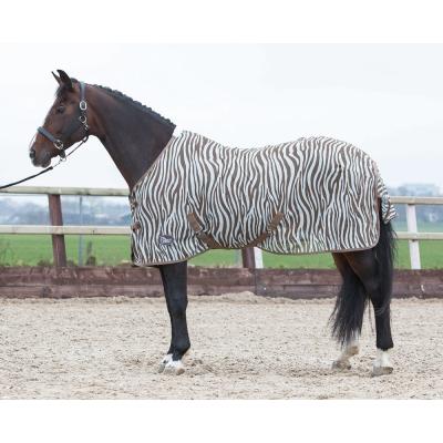 Harry's Horse Vliegendeken mesh zebra plume