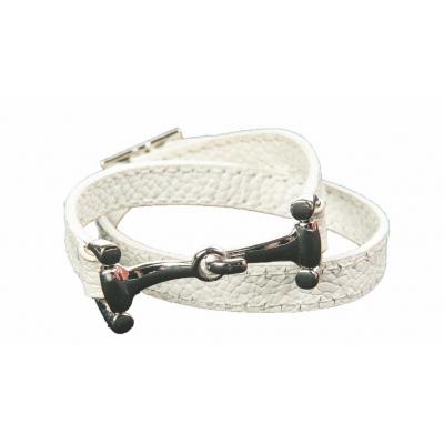 HKM Lederen wikkelarmband Bit