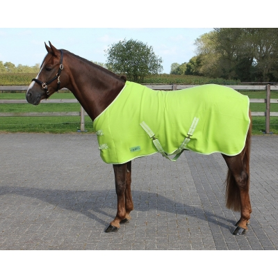 Deken Fleece Color met  singels mt125
