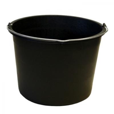 Emmer met maatverdeling Zwart 12L