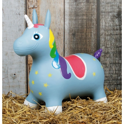 Nooni Skippy Unicorn Blauw