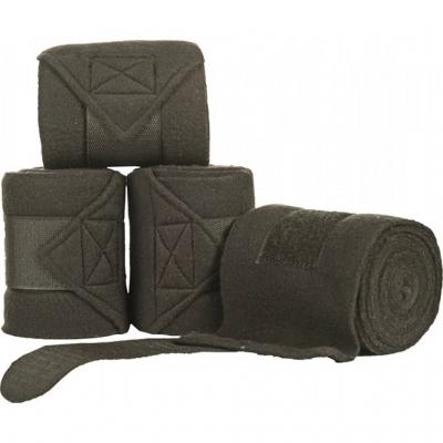 Polarfleece bandages in tas Zwart