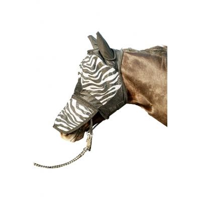 Vliegenmasker Zebra met neusnetje